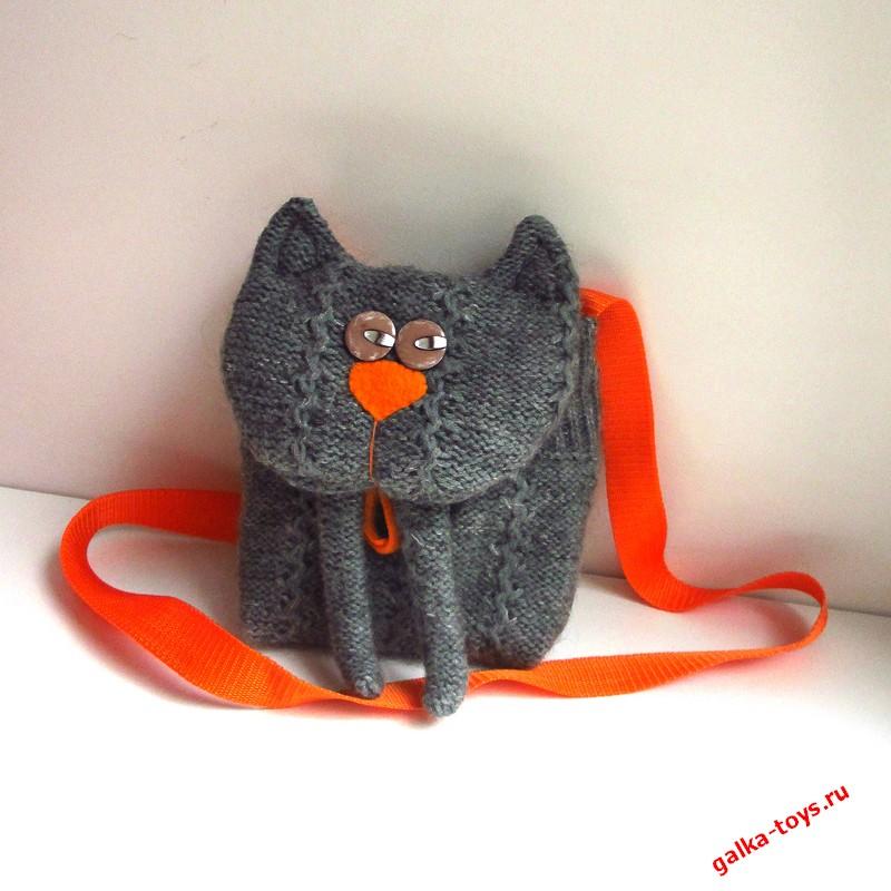 Сумка — Котик для девочки ( через плечо)