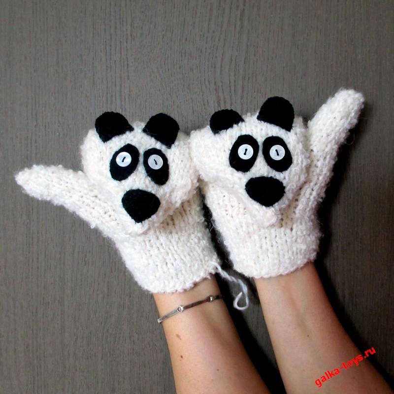 Варежки Панды