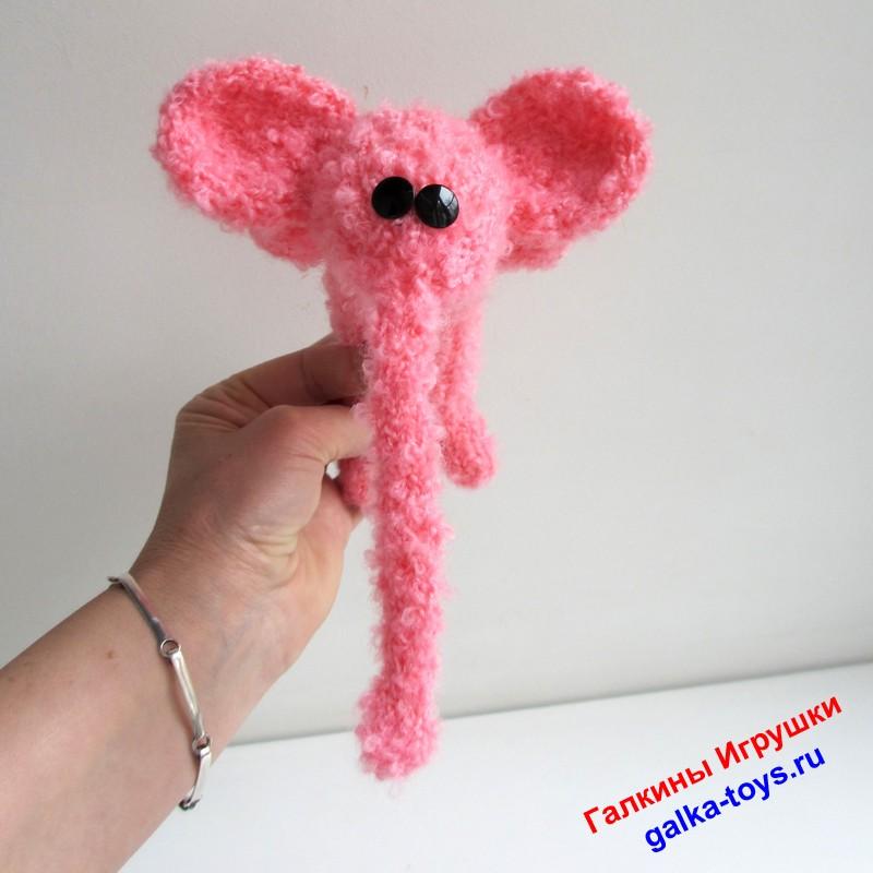 Игрушка розовый слоник. Купить