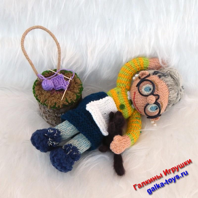 Мягкая игрушка Бабушка — Бабуля. Вязаная кукла. Магазин мягких игрушек