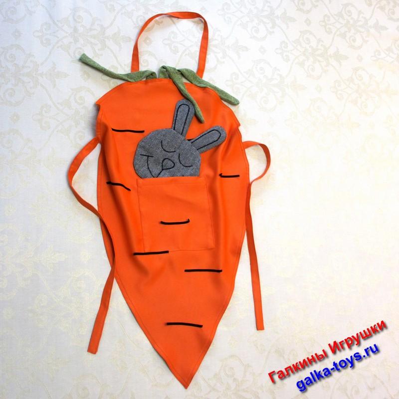Кухонный фартук — Зайка и морковка. Фартук для кухни. Поварской фартук