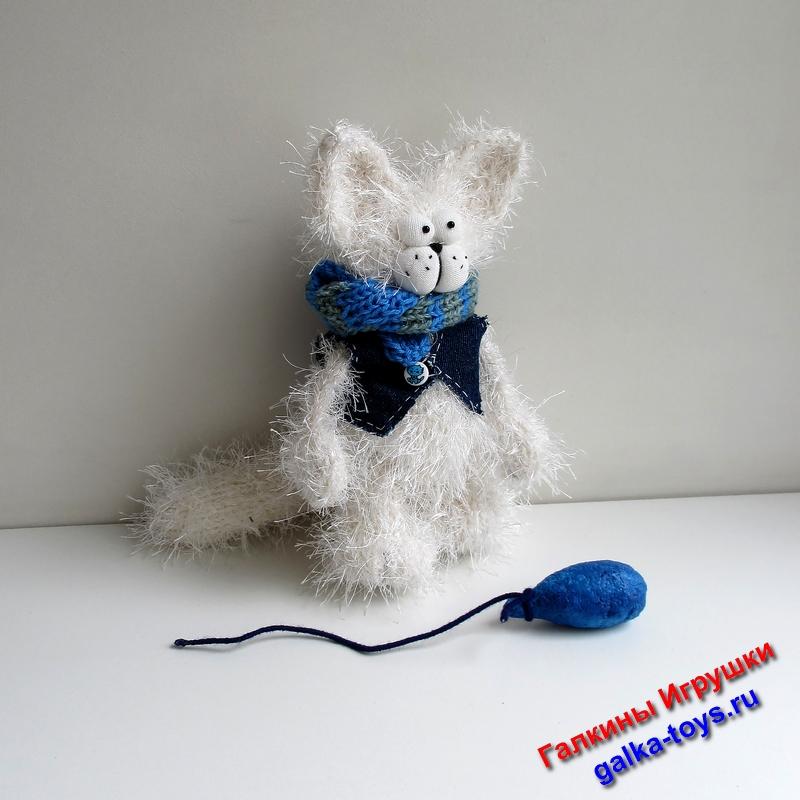 мягкая игрушка котенок,мягкая игрушка котик,белый кот пушистый