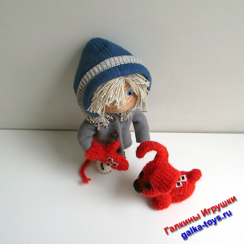 популярные герои мультиков,мультик про собаку и девочку,красивые куклы ручной работы,мультик рукавичка,мультфильм про варежку,вязаная кукла на каркасе,герои российских мультиков