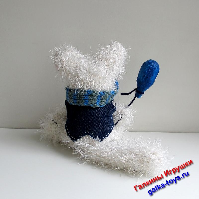 смешной котэ,пушистый котик игрушка,купить вязаного кота