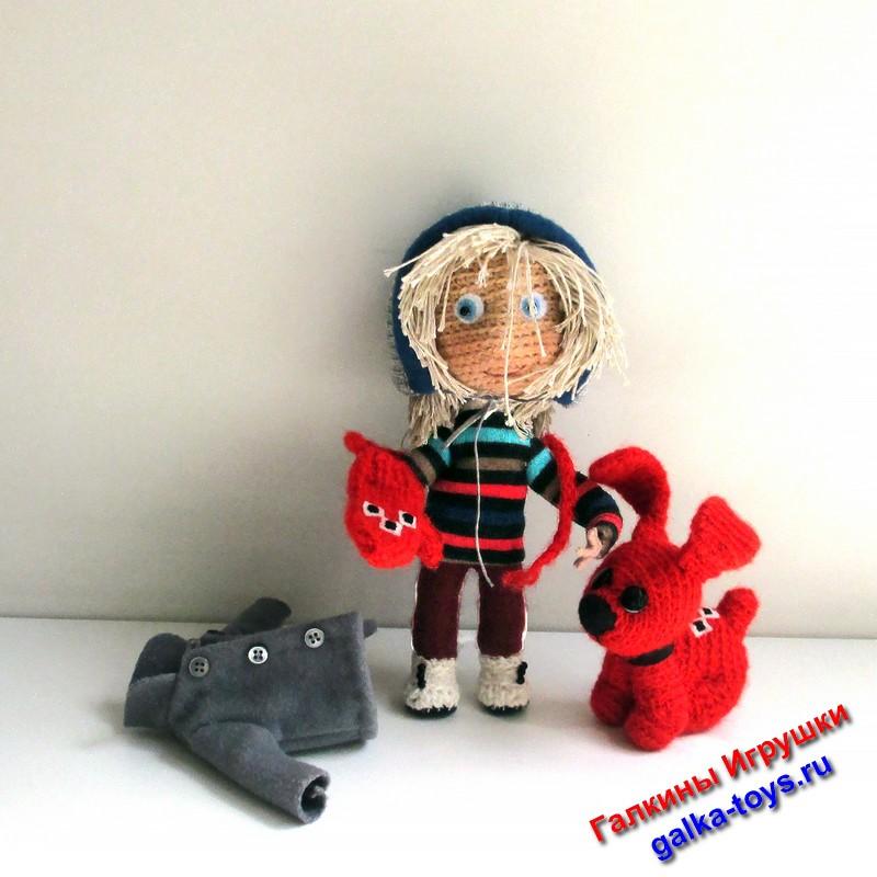авторская кукла крючком,кукла вязаная крючком купить