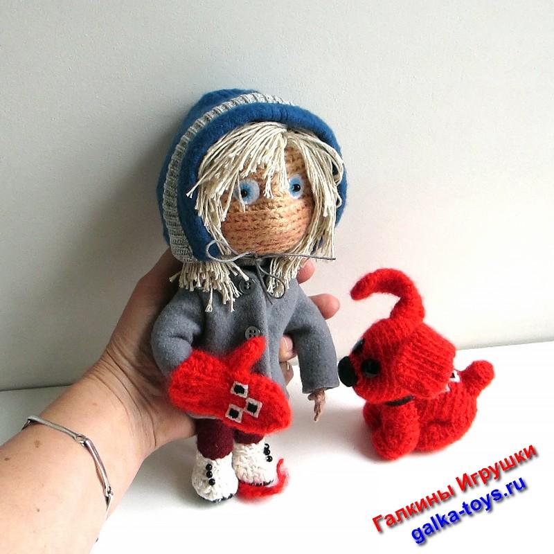 мультфильм девочка и варежка,авторская кукла девочка