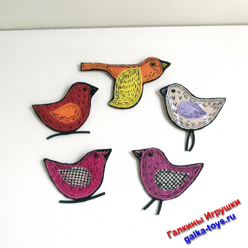 Красивые брошки птички