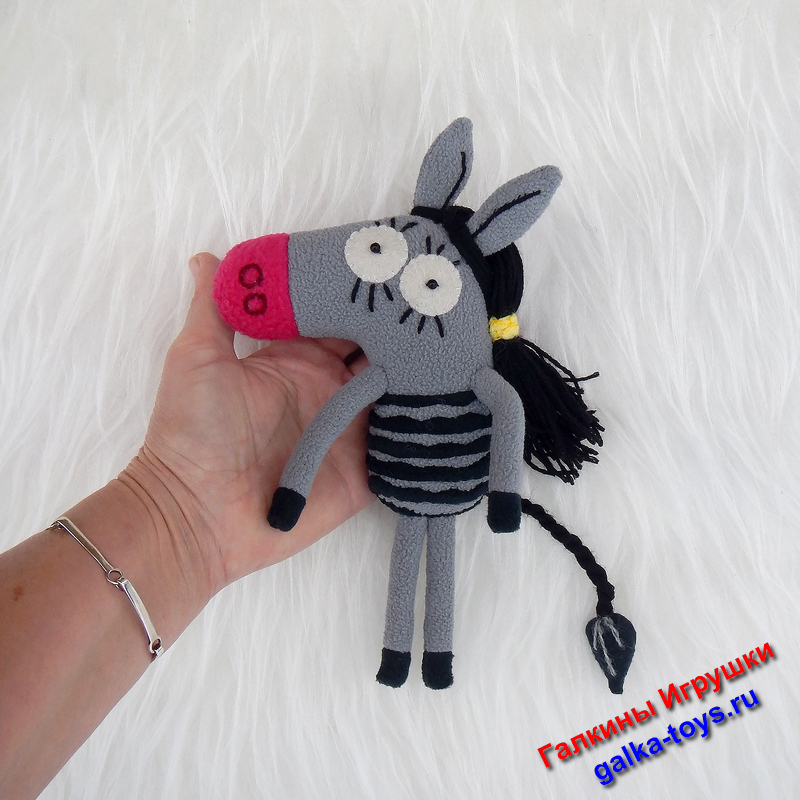 Зебра в полосочку Поля из мультика «Зебра в клеточку»