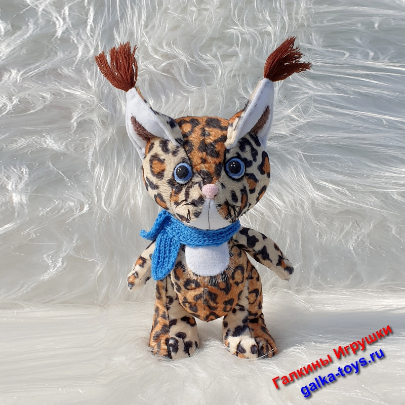 Дикая кошка рысь мягкая игрушка